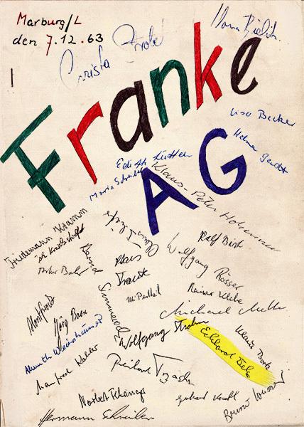 Festschrift zum 07.12.1963 - Titelseite