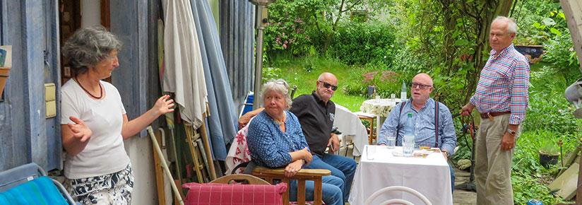 Bei Marianne im Garten.